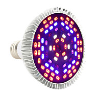abordables Luces de Crecimiento-YWXLIGHT® 1pc 12 W 1050-1150 lm E27 Growing Light Bulb PAR30 78 Cuentas LED SMD 5730 Decorativa Morado 85-265 V