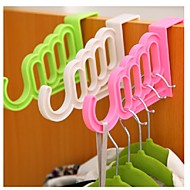 Door Multi-purpose Hooks Garments Non-trace Back Garment Hanger Hook Ramdon Color