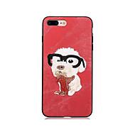 abordables Ofertas de Hoy-Funda Para Apple iPhone X iPhone 8 iPhone 8 Plus Diseños Funda Trasera Perro Dura Textil para iPhone X iPhone 8 Plus iPhone 8 iPhone 7