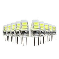 YWXLIGHT® 10pcs 1W 50lm G4 LED Bi-pin 조명 4 LED 비즈 SMD 5730 따뜻한 화이트 차가운 화이트 5V
