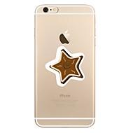 Кейс для Назначение Apple iPhone X iPhone 8 iPhone 8 Plus Прозрачный С узором Задняя крышка Геометрический рисунок Рождество Мягкий TPU
