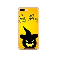 Недорогие Кейсы для iPhone 8-Кейс для Назначение Apple iPhone X iPhone 8 iPhone 8 Plus С узором Задняя крышка Halloween Мягкий TPU для iPhone X iPhone 8 Plus iPhone 8