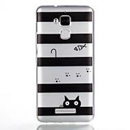お買い得  携帯電話ケース-ケース 用途 Asus パターン バックカバー ライン/ウェイブ ソフト TPU のために Asus Zenfone 3 Max ZC520TL