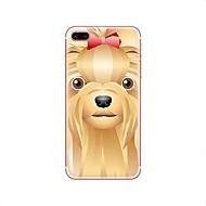 Кейс для Назначение iPhone X iPhone 8 Прозрачный С узором Задняя крышка С собакой Мягкий TPU для iPhone X iPhone 8 Plus iPhone 8 iPhone 7