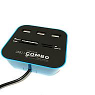 ieftine -4 porturi Hub USB USB 2.0 Cu cititor de carduri (s) ,, Sol A4 Bay,