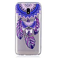 voordelige Galaxy J7(2016) Hoesjes / covers-hoesje Voor Samsung Galaxy J7 (2017) J3 (2017) Ringhouder Transparant Patroon Achterkantje Dromenvanger Zacht TPU voor J7 (2016) J7