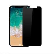 Недорогие Защитные плёнки для экрана iPhone-Защитная плёнка для экрана Apple для iPhone X Закаленное стекло 1 ед. Anti-Spy Защита от царапин 2.5D закругленные углы Уровень защиты 9H