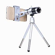 baratos -Kit de lente de câmera de telefone orsda® Zoom óptico 12x Visor de telescópio teleobjetivo universal para smartphone com faixa de tripé