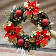 guirnalda de la navidad agujas de pino 1 colores decoración de la Navidad para el hogar de 30 cm de diámetro partido navidades Fuentes de