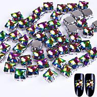 10 Decoración de uñas Las perlas de diamantes de imitación maquillaje cosmético Dise?o de manicura