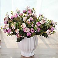 abordables Flores Artificiales-Flores Artificiales 1 Rama Estilo Pastoral Camelia Flor de Mesa