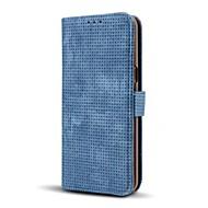 Кейс для Назначение SSamsung Galaxy Кошелек Бумажник для карт со стендом Флип Чехол Сплошной цвет Твердый Искусственная кожа для S8 S8