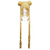 お買い得  コスプレ、コスチューム-コスプレウィッグ 美少女戦士セーラームーン Sailor Moon ゴールド ロング丈 アニメ系 コスプレウィッグ 100 CM 耐熱繊維 女性用