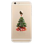 Недорогие Кейсы для iPhone 8 Plus-Кейс для Назначение Apple iPhone X iPhone 8 iPhone 8 Plus Прозрачный С узором Кейс на заднюю панель Рождество дерево Мягкий ТПУ для
