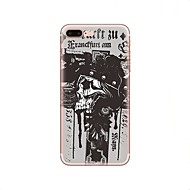 Недорогие Кейсы для iPhone 8 Plus-Кейс для Назначение Apple iPhone X iPhone 8 iPhone 8 Plus С узором Кейс на заднюю панель Halloween Черепа Мягкий ТПУ для iPhone X iPhone