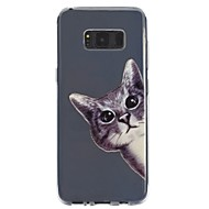 billige Galaxy S5 Etuier-Etui Til Samsung Galaxy S8 Plus S8 Transparent Mønster Præget Bagcover Kat Blødt TPU for S8 Plus S8 S7 edge S7 S6 S5