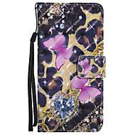 Кейс для Назначение SSamsung Galaxy A5(2017) A3(2017) Кошелек Бумажник для карт со стендом Флип С узором Чехол Бабочка Твердый