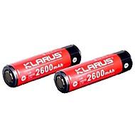 KLARUS 18650 2600mAh Batterie Tragbar Professionell Einfach zu tragen Gute Qualität Leichtes Gewicht für 18650 Li-ion