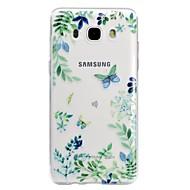 voordelige Galaxy J3 Hoesjes / covers-hoesje Voor Samsung Galaxy J5 (2017) J3 (2017) Transparant Patroon Reliëfopdruk Achterkantje Vlinder Zacht TPU voor J7 (2016) J5 (2017)