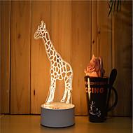 1 sarja 3d tunnelma yövalo käsi tunne himmennettävä usb powered gift lamp kirahvi