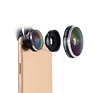 lente del teléfono celular mactrem 235 grados fisheye 19x super macro lente del teléfono universal cámara