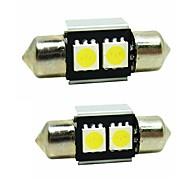voordelige Autobuitenverlichting-sencart 2st 31mm festoen led lamp 5050smd led interieur kaart dome deur verlichting bollen 12v