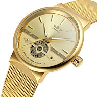 cheap Jewelry & Watches-WINNER Men's Wrist Watch Automatic self-winding 30 m Hollow Engraving Cool Stainless Steel Band Analog Vintage Casual Fashion Gold - Gold