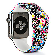 abordables Déstockage-Bracelet de Montre  pour Apple Watch Series 3 / 2 / 1 Apple Bracelet Sport Silikon Sangle de Poignet