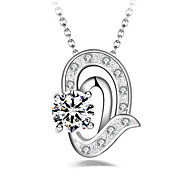 Women's Pendant Necklaces Geometric Silver Plated Simple Fashion Jewelry For Other Gift