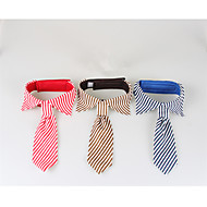 Dog Tie/Bow Tie Dog Clothes Casual/Daily Stripe Blue Red Coffee
