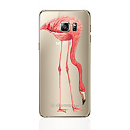 Недорогие Чехлы и кейсы для Galaxy S8 Plus-Кейс для Назначение SSamsung Galaxy S8 Plus / S8 С узором Кейс на заднюю панель Фламинго Мягкий ТПУ для S8 Plus / S8 / S7 edge