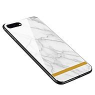 Kılıf Na Apple iPhone X iPhone 8 Plus Wzór Etui na tył Marmur Miękkie Szkło hartowane na iPhone X iPhone 8 Plus iPhone 8 iPhone 7 Plus