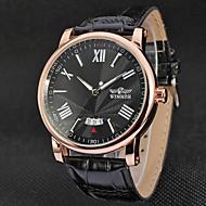 WINNER Herrn Kleideruhr Armbanduhr Mechanische Uhr Automatikaufzug Kalender Leder Band Luxus Freizeit Schwarz Braun