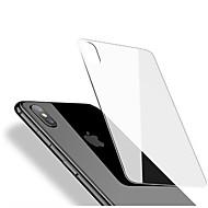 Skærmbeskytter for Apple iPhone X Hærdet Glas 1 stk Rygbeskyttelse 2.5D bøjet kant Ultratynd Ridsnings-Sikker Anti-fingeraftryk High