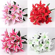 40cm 2 adet 10 baş / kol parfümü küçük zambak ev dekorasyon yapay çiçekler