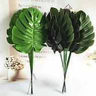 45cm 5 adet 18cm genişlik ev dekorasyon yapay monsteras yeşil bitkiler