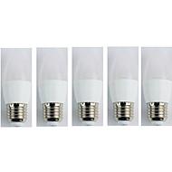 abordables Luces LED en Vela-5pcs 3W 225lm E27 Luces LED en Vela C35 5 Cuentas LED SMD 3528 Blanco Fresco 110-240V