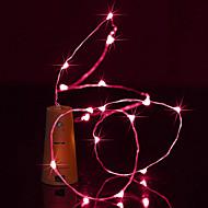 halpa LED-hehkulamput-brelong 1.5m 15led viinipullo kupari merkkijono valot joulua halloween juhlakoristeet