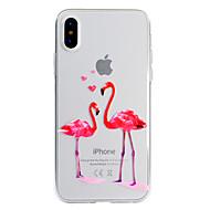 Недорогие Кейсы для iPhone 8-Кейс для Назначение Apple iPhone X iPhone 8 Plus С узором Кейс на заднюю панель Фламинго Мягкий ТПУ для iPhone X iPhone 8 Pluss iPhone 8