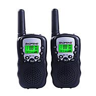 halpa -2pcs baofeng t3 mini walkie-talkki lasten radio 0.5w 8 / 22ch LCD-näyttö amatööri kaksisuuntainen radio