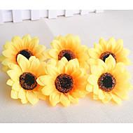 10 Tak Kunststof Zonnebloemen Bloemen voor op tafel Kunstbloemen