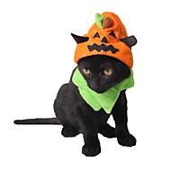 Cat Hats, Caps & Bandanas Dog Clothes Halloween Pumpkin Yellow