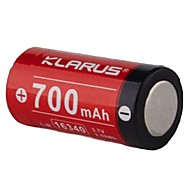 KLARUS 16430 Battery Portable Professional Lightweight Easy Carrying High Quality for 16340 Li-ion RS16、P1C、XT1C、XT2C、XT10、XT11、RS11