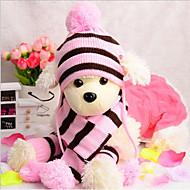 Katze Hund Hüte, Kappen & Bandanas Hundeschal Hundekleidung neu Lässig/Alltäglich warm halten Streifen Kopfwärmer Streifen Gelb Rosa