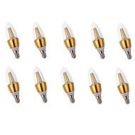 10pçs 5W E14 Luzes de LED em Vela C35 25 leds SMD 2835 Luzes LED Decorativa Branco Quente 400lm 2700K AC 220-240V