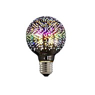 abordables Bombillas LED de Globo-1pc 4W 350lm E26 / E27 Bombillas LED de Globo G80 28 Cuentas LED LED Integrado Fuegos artificiales 3D Estrellado Decorativa Multicolores