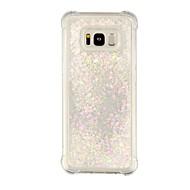 Недорогие Чехлы и кейсы для Galaxy S7-Кейс для Назначение SSamsung Galaxy S8 Plus S8 Защита от удара Движущаяся жидкость Прозрачный Кейс на заднюю панель Прозрачный Сияние и