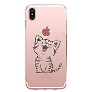 用途 iPhone X iPhone 8 iPhone 7 iPhone 7 Plus iPhone 6 ケース カバー パターン バックカバー ケース 猫 ソフト TPU のために Apple iPhone X iPhone 8 Plus iPhone 8 iPhone