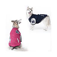 Koira College Baseball Koiran vaatteet Muoti Urheilu Color Block Tumman sininen Punainen Asu Lemmikit