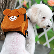 Cat Dog Backpack Pet Carrier Mini Walking Portable Foldable Flexible Color Block Cartoon Cute Pink Green Red Brown Orange